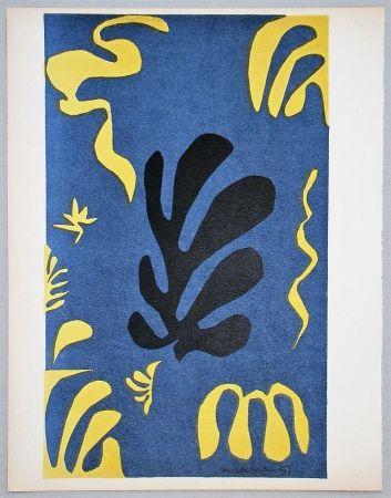 リトグラフ Matisse - Composition Fond Bleu, 1951