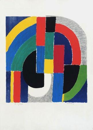 リトグラフ Delaunay - Composition géométrique