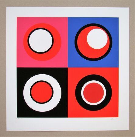 シルクスクリーン Claisse - Composition géométrique