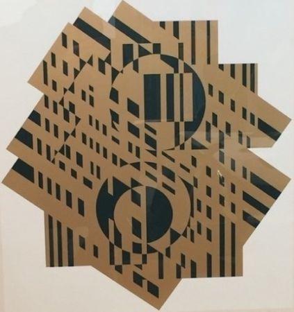 リトグラフ Vasarely - Composition Géométrique