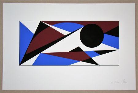 シルクスクリーン Claisse - Composition géométrique - sans titre