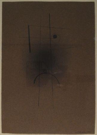 モノタイプ Tutundjian - Composition géometrique abtraite / Geometrisch abstrakte Komposition