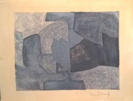 リトグラフ Poliakoff - Composition grise n°59