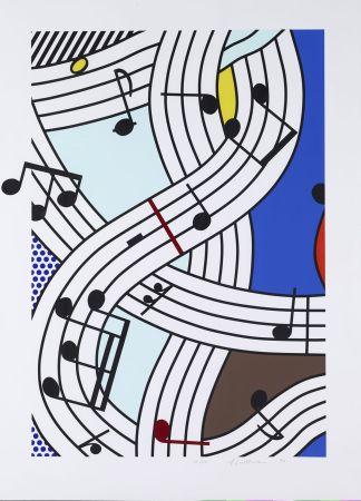シルクスクリーン Lichtenstein - Composition I