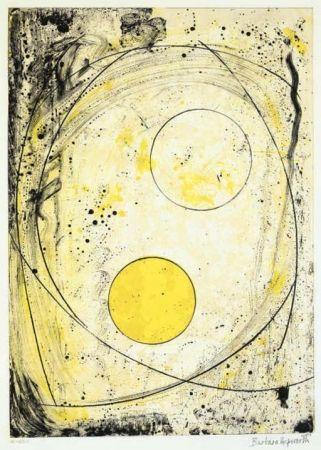 リトグラフ Hepworth - Composition in black and Yellow