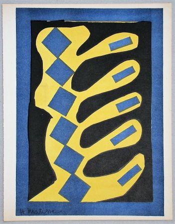 リトグラフ Matisse - Composition Jaune, Bleu Et Noire, 1947