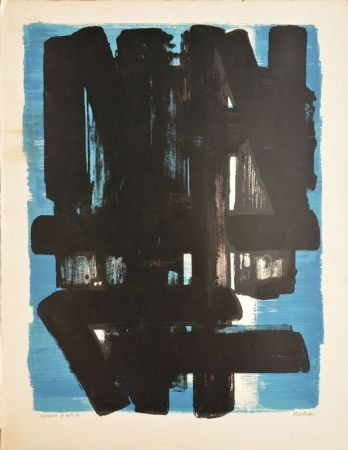 リトグラフ Soulages - Composition N°5