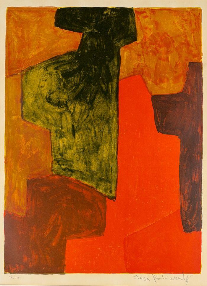 技術的なありません Poliakoff - Composition orange et verte