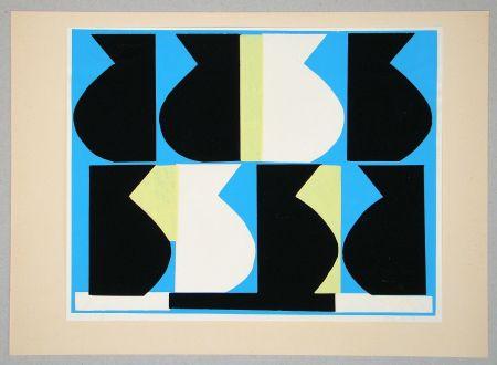 シルクスクリーン Delahaut - Composition pour Art Abstrait