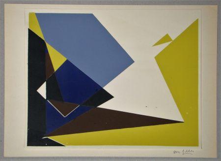 シルクスクリーン Gilles  - Composition pour Art Abstrait