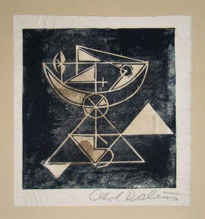 木版 Rabus - Composition pour Art Abstrait