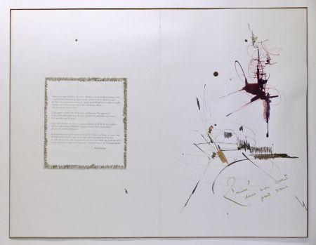 技術的なありません Mathieu - Composition pour Jean Cocteau, 1er mai 1960. Dessin