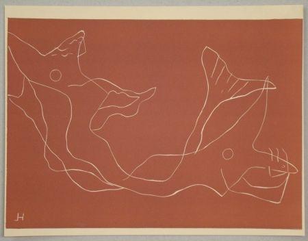 リノリウム彫版 Laurens - Composition pour XXe Siècle