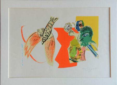 リトグラフ Chagall - Composition pour XXe Siècle