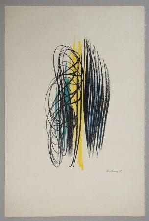 リトグラフ Hartung - Composition pour XXe Siècle - 1958