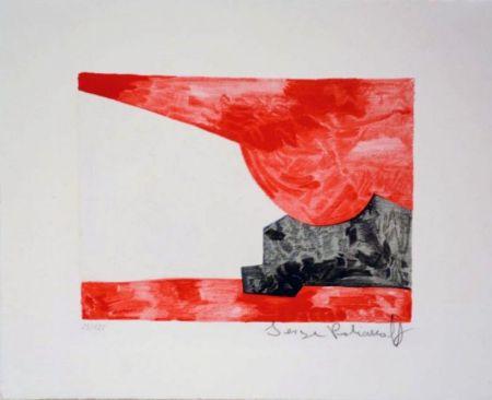 リトグラフ Poliakoff - Composition rouge, blanche, noire n°42