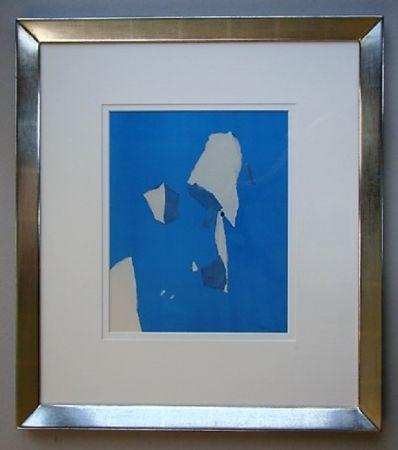 ステンシル De Stael - Composition Sur Fond Bleu Ciel