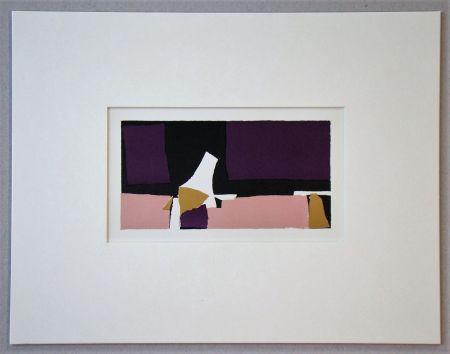 リトグラフ De Stael - Composition Violette - 1952