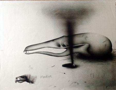 リトグラフ Wunderlich - Composizione