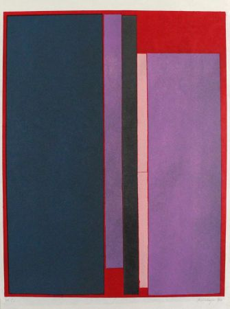 リトグラフ Scialoja - Composizione a colori