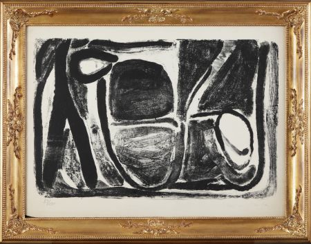 リトグラフ Van Velde - Composizione in bianco e nero