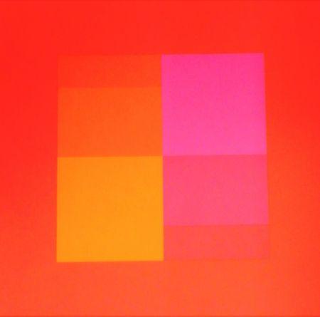 シルクスクリーン Bill - Composizione in rosso