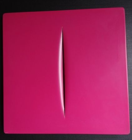 多数の Fontana - Concetto Spaziale (Pink)