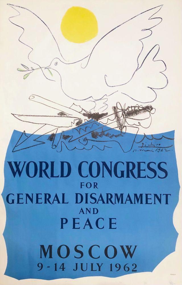 リトグラフ Picasso - Congrès pour la Paix