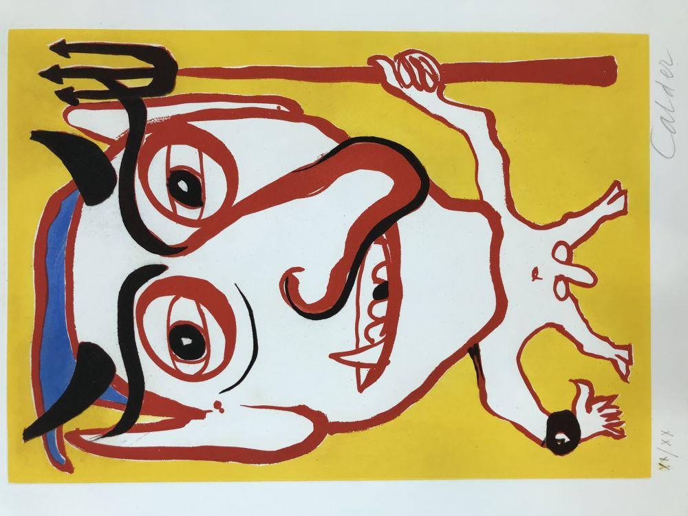 エッチングと アクチアント Calder - Constantin Tacou