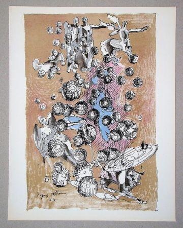 リトグラフ Villon - Constellation planétaire, 1954