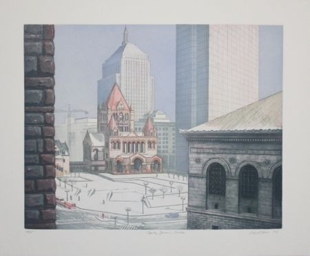 エッチングと アクチアント Haas - Copley Square, Boston