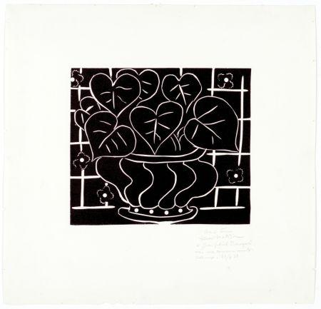 リノリウム彫版 Matisse - Corbeille de bégonias I