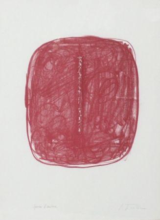 リトグラフ Fontana - Corrente (Rosso)