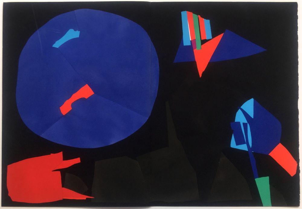 ステンシル Lanskoy - CORTÈGE. Pochoir original (1959)