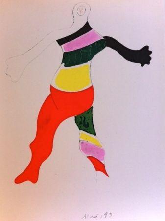 彫版 Miró (After) - Costume de la toupie