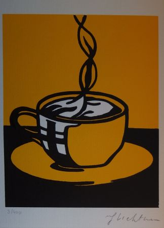 シルクスクリーン Lichtenstein - Coup Of Coffee