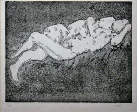 リトグラフ Olovson - Couple enlacé