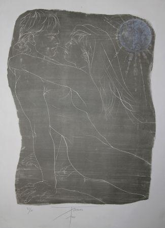 リトグラフ Trémois - COUPLE ENLACE / INTERTWINED COUPLE - Lithographie Original / Original Lithograph