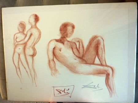 リトグラフ Dali - Couple Nus