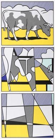 オフセット Lichtenstein - Cow Going Abstract