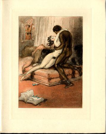 挿絵入り本 Icart - CRÉBILLON, Fils : LE SOPHA. 23 (22) eaux-fortes originales en couleurs de Louis Icart.