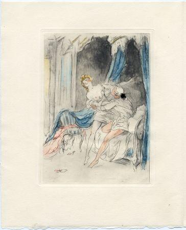 挿絵入り本 Icart - Crébillon : LA NUIT ET LE MOMENT. 25 eaux-fortes de Louis Icart (1946).