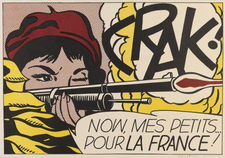 リトグラフ Lichtenstein - Crak! (Corlett II.2.)