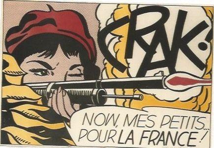 リトグラフ Lichtenstein - CRAK! Now mes Petits ... pour la France!