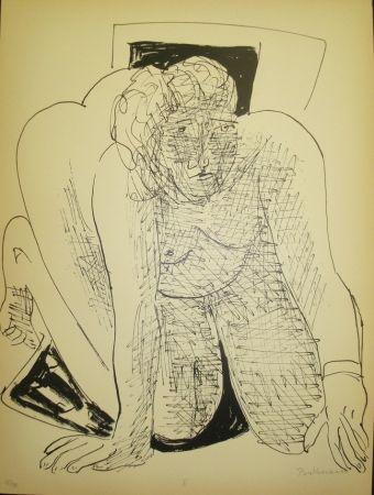 リトグラフ Beckmann - Crawling Woman