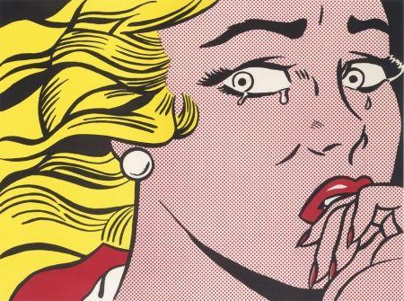 リトグラフ Lichtenstein - Crying Girl