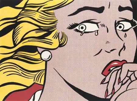 オフセット Lichtenstein - Crying girl