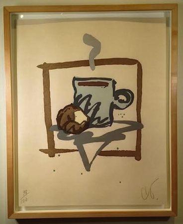 木版 Oldenburg - Cup of Joe with Donut