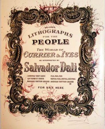 リトグラフ Dali - Currier And Ives Title Page