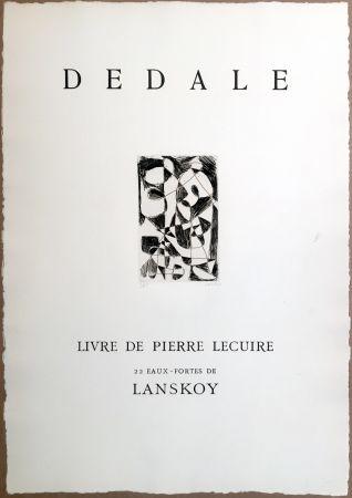 彫版 Lanskoy - DÉDALE. Affiche originale gravée. Livre de Pierre Lecuire (1960)